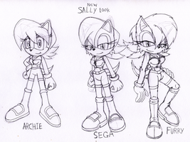 Sally Acorn's new Look 3 Styles OMEGA SPOILERS by DarkHedgehog23