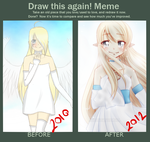 Before and After: 2010 and 2012 by eevee-thetokki
