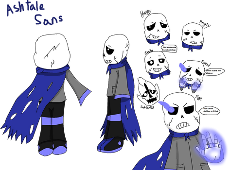 Ashtale Sans reference sheet by AshleyFluttershy