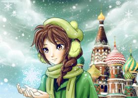 CLAC: Ivy and Snowflakes at Russia by raditya