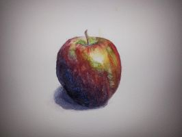 Apple - watercolor by Unga33