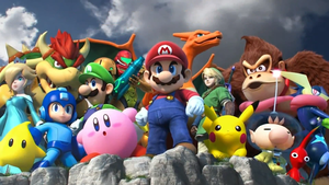 Super Smash Bros. characters poster (high quality) by MarkProductions