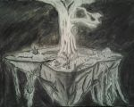 Levitating Tree Island Original Sketch by Defiant2Death