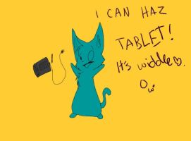 New Tablet Cat by Joava