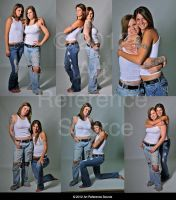 Two Women Pose Reference Stock Premium Content by ArtReferenceSource