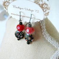Asian Boho Earrings by BoutiqueVintage72