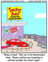 Government Car cartoon by Conservatoons