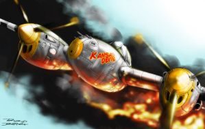 P-38 warbird by roback