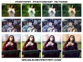 Portrait Actions preview by Grugle