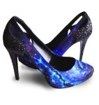 Custom Painted Galaxy Heels by dannyPs-customs
