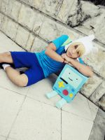 Finn and Bmo- Adventure Time Cosplay by andyblackstar
