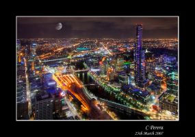 Melbourne at Night by diablo2097