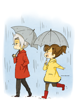 GokuHaru rain by invaderk8