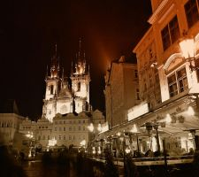 Night in Prague 10 by Csipesz