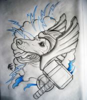 Thor Dog Of Thunder Design by Frosttattoo