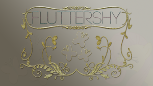 Wallpaper : Fluttershy - designed Logo by pims1978