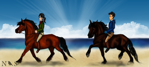 Beach Ride by NightingaleStables