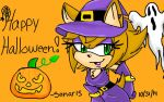 Happy Halloween From Witch Sonar The Hedgehog by Sonar15