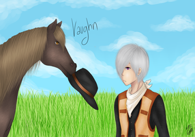 Harvest Moon: Vaugn Redrawn by KayMarie94
