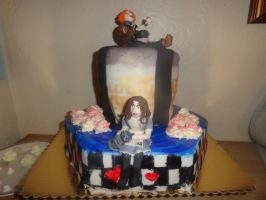 Alice in Wonderland Cake by Kate078
