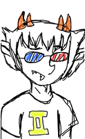 A Captor-vating Sollux Sketch by salamandrinsauce
