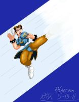 "Chun Li's ""Heavenly Kick"" by RocMegamanX"
