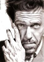 Hugh Laurie by crayon2papier