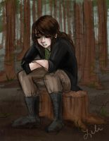 Katniss takes a break by liliribs