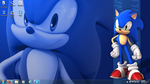 Sonic wallpaper on my laptop by RyanEchidnaSEAL