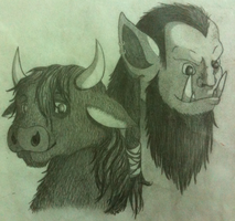 Tauren and Orc by zarhx