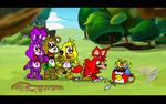Red and the Adventure Animatronics by AngryBirdsStuff