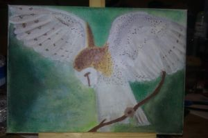 Owl Painting by Lazielulu