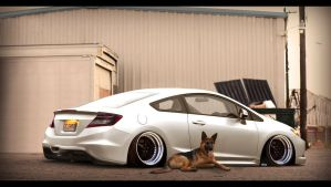 Honda civic coupe by VinniFMartins