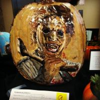 Leatherface Pumpkin by sallysayuri