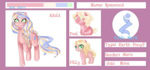Rosewend reference sheet by Rosewend