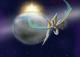 Beyond Our Atmosphere - Deoxys by CosmicSprinkles