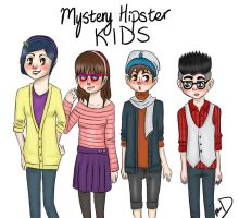Mystery Hipster Kids by SozoArtist
