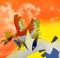 Lugia And Ho-oh by PhoenixWulf