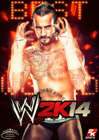 WWE 2K14 Cover feat CM Punk by MhMd-Batista
