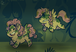 MLP - little changeling hunters by Caroline263