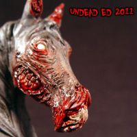 Chasity Zombie Horse Bust ooak by Undead-Art