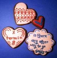 Dr Who Valentine Cookies 3 by Sadeira