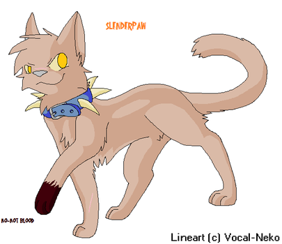 slenderpaw of bloodclan by vinespeck