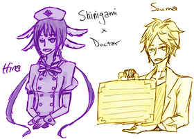 Shinigami x Doctor - Hina and Souma by Jumping-Beans