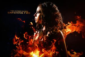 Katniss Everdeen the Girl On Fire! by CrystalPanda