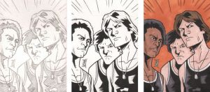 Warriors Sketch Card 5 Steps by The-Real-NComics