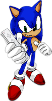 Sonic with a Wii-mote by Zero86-SK