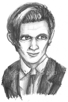Matt Smith Grayscale by Chrisily