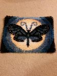 Butterfly Moon Rug by ArchangelVampire