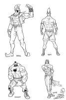 street fighter characters by nickybeats